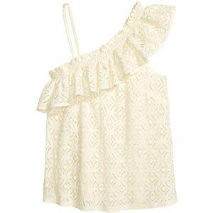🐯2/40$! H&M cream one shoulder top